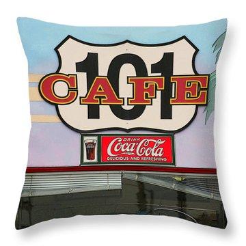 Beach Cafe Throw Pillow