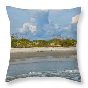 Beach Clouds Throw Pillow