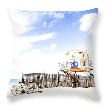 Throw Pillow featuring the photograph Beach Cruiser by Margie Amberge