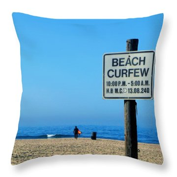Beach Curfew Throw Pillow