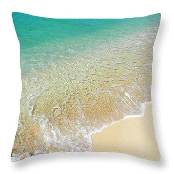Golden Sand Beach Throw Pillow