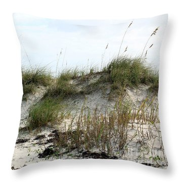 Beach Dune Throw Pillow by Chris Thomas