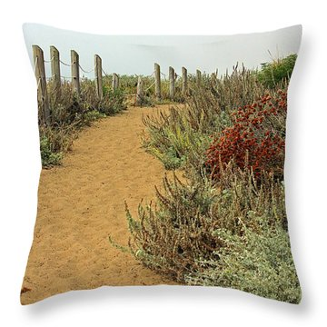 Throw Pillow featuring the photograph Beach Dune  by Kate Brown