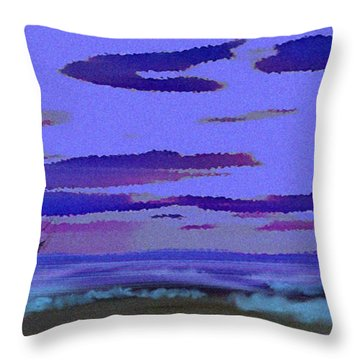 Beach. Evening Throw Pillow