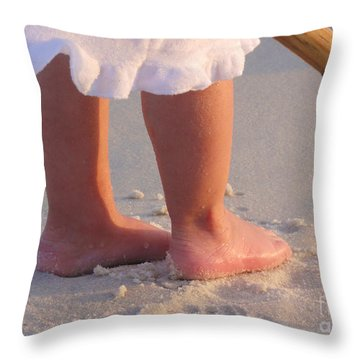 Throw Pillow featuring the photograph Beach Feet  by Nava Thompson