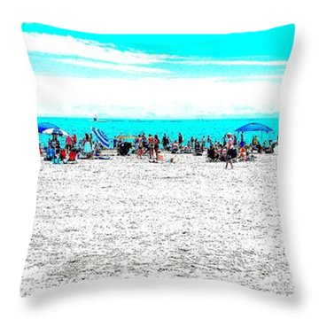 Beach Fun 1 Throw Pillow