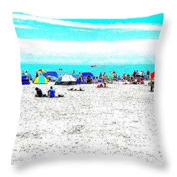 Beach Fun 2 Throw Pillow