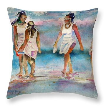 Beach Fun Throw Pillow
