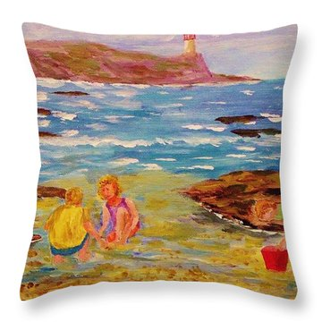 Beach Fun Throw Pillow