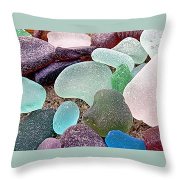 Beach Gems Throw Pillow by Janice Drew