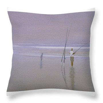 Beach Ghosts Throw Pillow