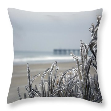 Beach Glass Throw Pillow