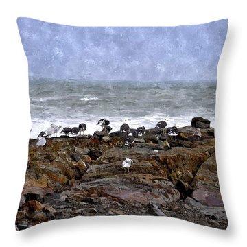 Beach Goers Bgwc Throw Pillow