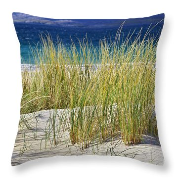 Throw Pillow featuring the photograph Beach Gras by Juergen Klust