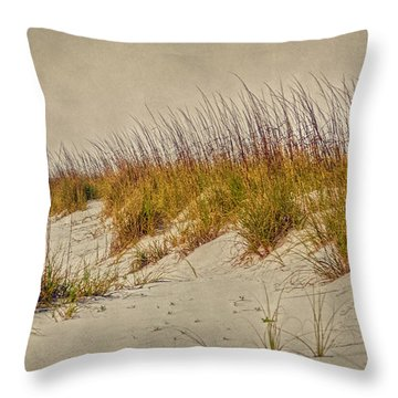 Beach Grass And Sugar Sand Throw Pillow