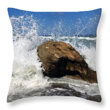 Beach Greece Throw Pillow
