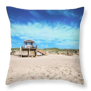 Beach Guard - Sylt Throw Pillow by Hannes Cmarits