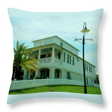 Beach House - Bay Saint Louis Mississippi Throw Pillow