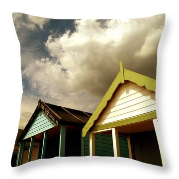 Throw Pillow featuring the photograph Beach Huts by Vicki Spindler