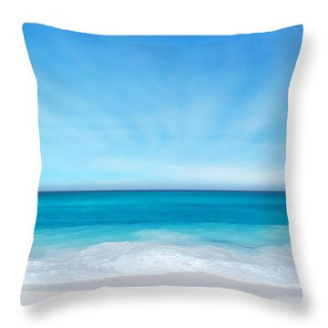 Throw Pillow featuring the digital art Beach In The Morning by Nina Bradica