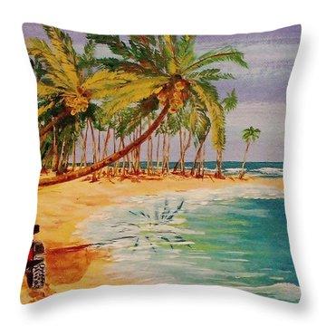 Beach Jeepin' Throw Pillow