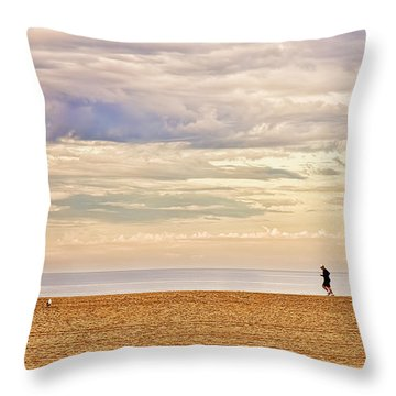 Beach Jogger Throw Pillow