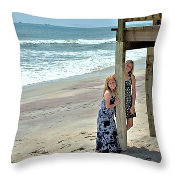Beach Ladies Throw Pillow