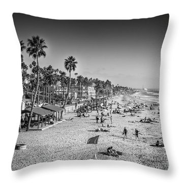 Beach Life From Yesteryear Throw Pillow