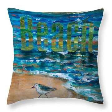 Beach Throw Pillow by Linda Olsen