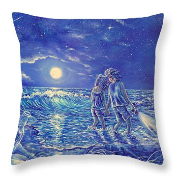Beach Lites Throw Pillow