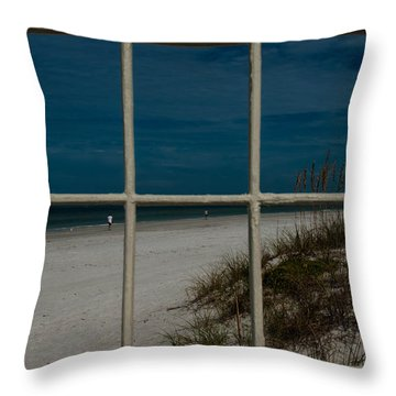 Beach Lookout Throw Pillow