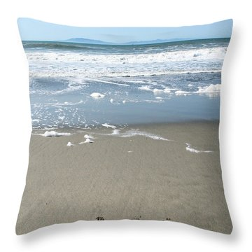 Beach Love Throw Pillow by Linda Woods