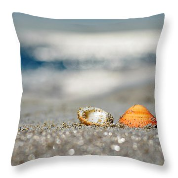 Beach Lovers Throw Pillow