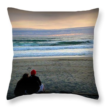 Beach Lovers Throw Pillow by Susan Garren