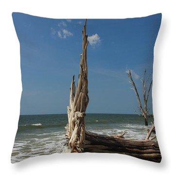 Beach Magic Throw Pillow