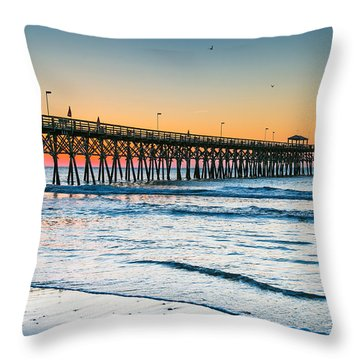 Beach Morning Throw Pillow