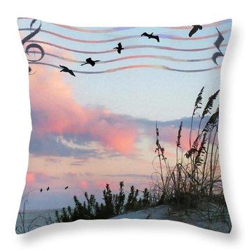 Beach Music Throw Pillow
