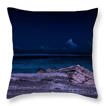 Beach Night Throw Pillow