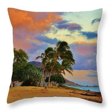 Beach Oasis Throw Pillow by Craig Wood