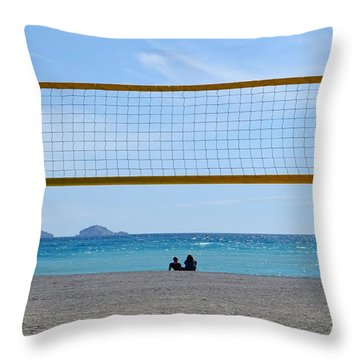 Beach Of Marseille Throw Pillow