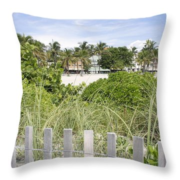 Throw Pillow featuring the photograph Beach Path by Laurie Perry