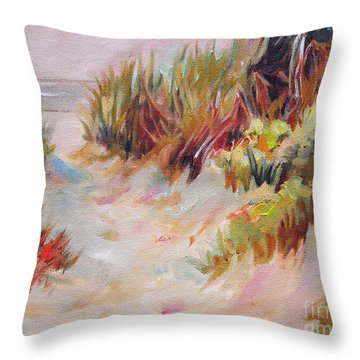 Beach Path Through The Dunes Throw Pillow by Mary Hubley