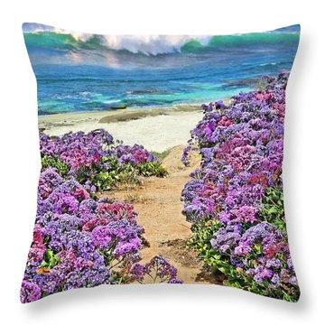 Beach Pathway Throw Pillow