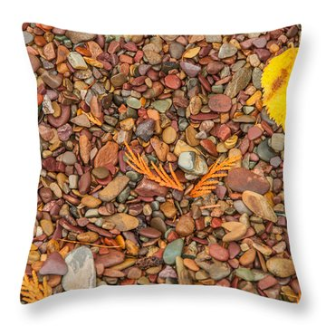 Beach Pebbles Of Montana Throw Pillow