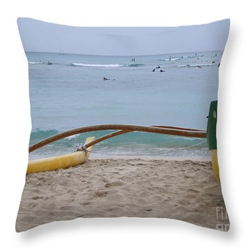 Beach Play Throw Pillow by Mary Deal