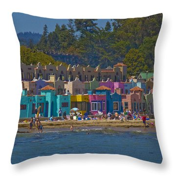 Throw Pillow featuring the photograph Beach Play by Tom Kelly