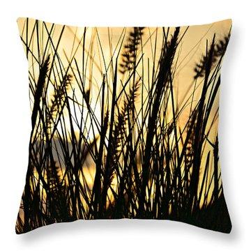 Beach Rise Throw Pillow by Laura Fasulo