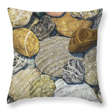 Beach Rocks 3 Throw Pillow