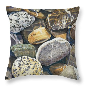 Beach Rocks 4 Throw Pillow