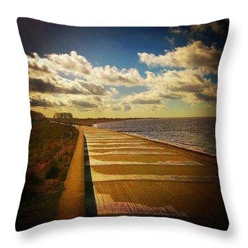 #beach #sea #seafront Throw Pillow